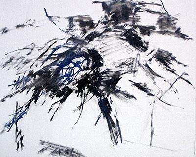 Vinter, oljemålning 50 x 61 cm